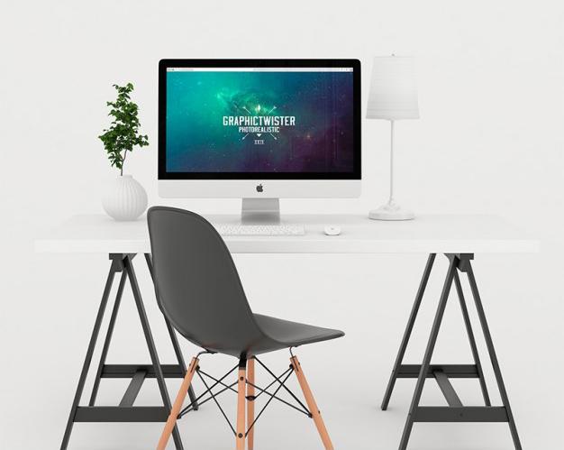 white-workspace