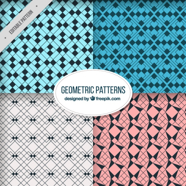 Abstract patterns with geometric shapes