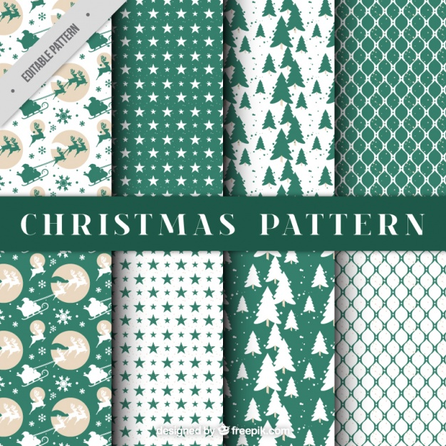 Beautiful christmas decorative patterns