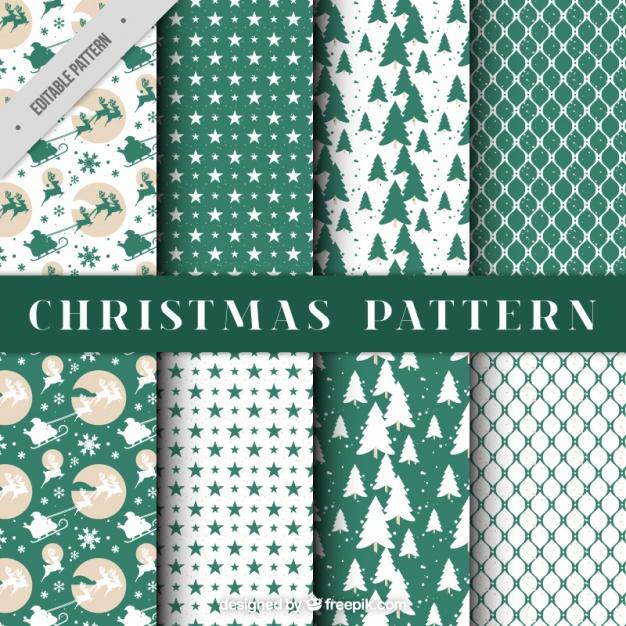 Beautiful christmas decorative patterns