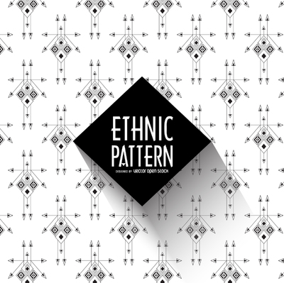 Black and white ethnic pattern