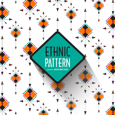Boho ethnic pattern background
