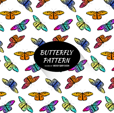 Bright colorful butterfly pattern