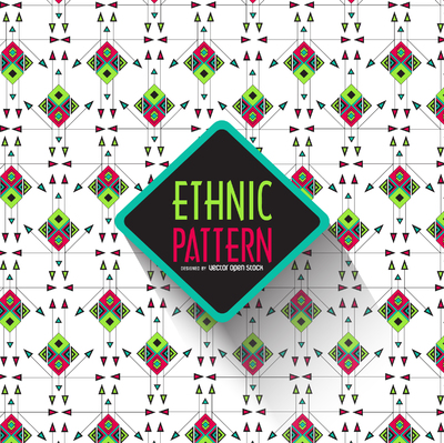 Bright geometric ethnic pattern
