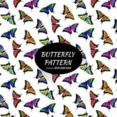 Colorful butterfly pattern background
