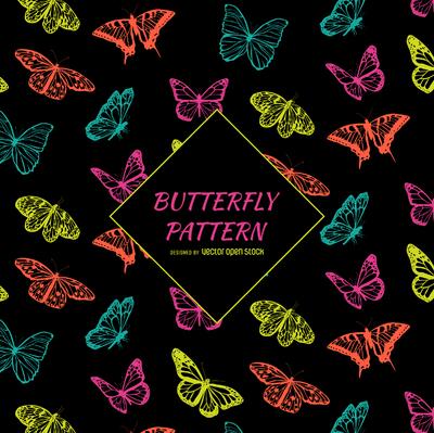 Contrast butterfly pattern