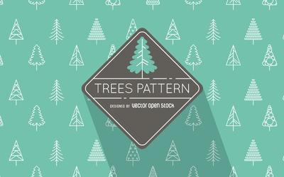 Flat illustrated trees pattern
