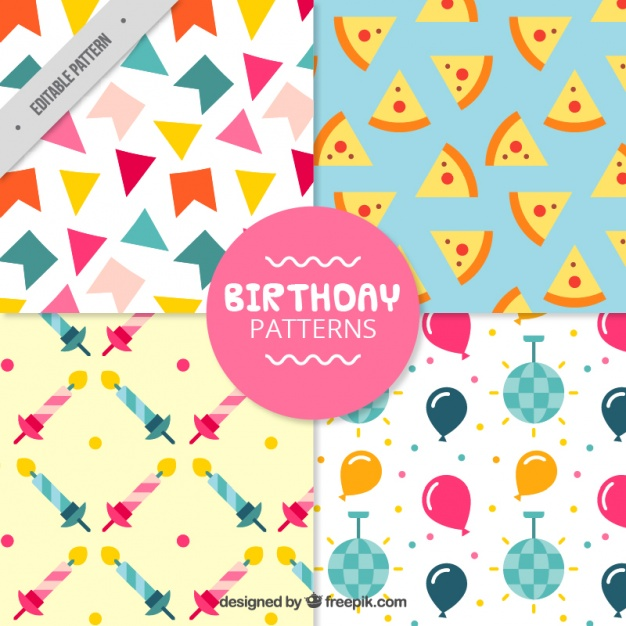 Four patterns for birthday