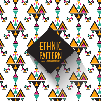 Geometric ethnic pattern background