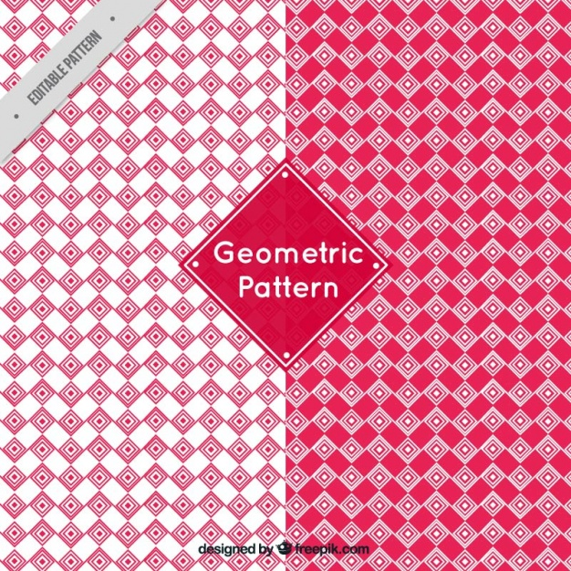 Geometric patterns in red tones