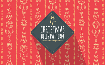 Red hand drawn Christmas pattern