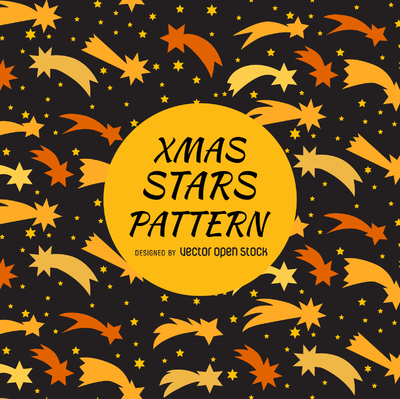 Shooting stars pattern design
