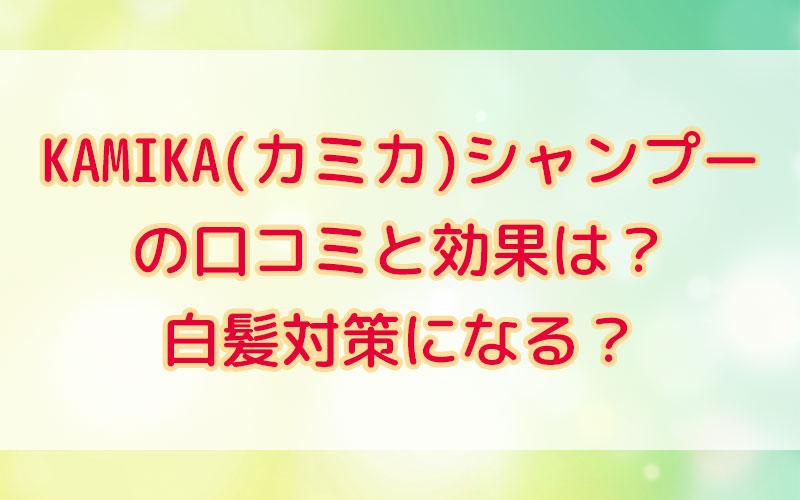 KAMIKA(カミカ)シャンプー