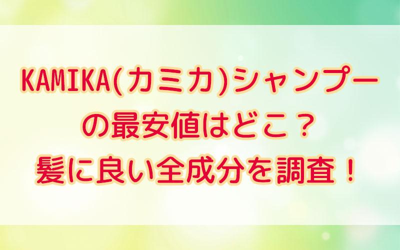KAMIKA(カミカ)シャンプー最安値