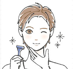 MONOVOヘアアフターシェーブローション使い方1