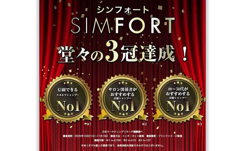 SIMFORT(シンフォート)スパークリングスカルプシャンプー三冠